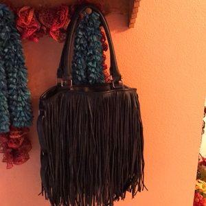 Big fringe hobo bag